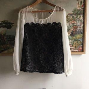 Lace/ see through shirt